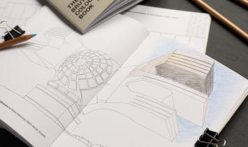A Brutalist coloring book lets you paint it black (and gray, perhaps even blue)