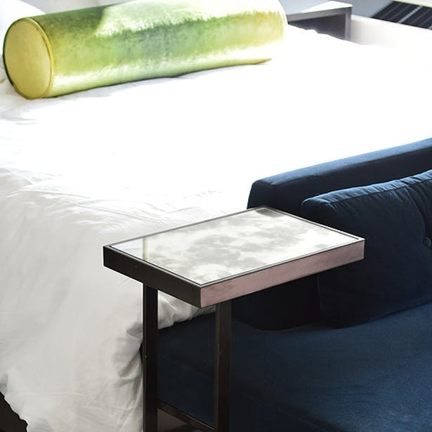 The Marmara Hotel defines itself by the subtle details, like this refined multipurpose table.