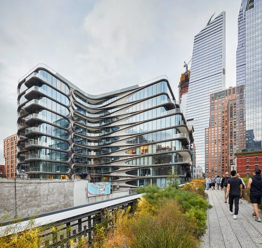 Split levels, so hot right now: 520 West 28th Street is ZHA's first project in New York City. © Hufton+Crow