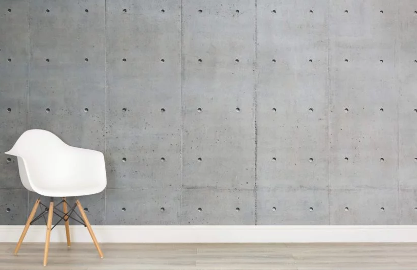 Go with the classic Bare Concrete look: & Concrete effect wallpaper brings brutalism inside   News   Archinect