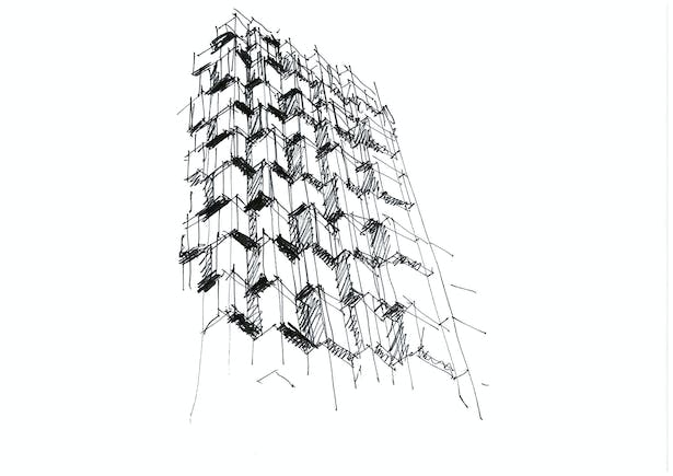 Composite Building on Sai Yee Street by Aedas - Drawing