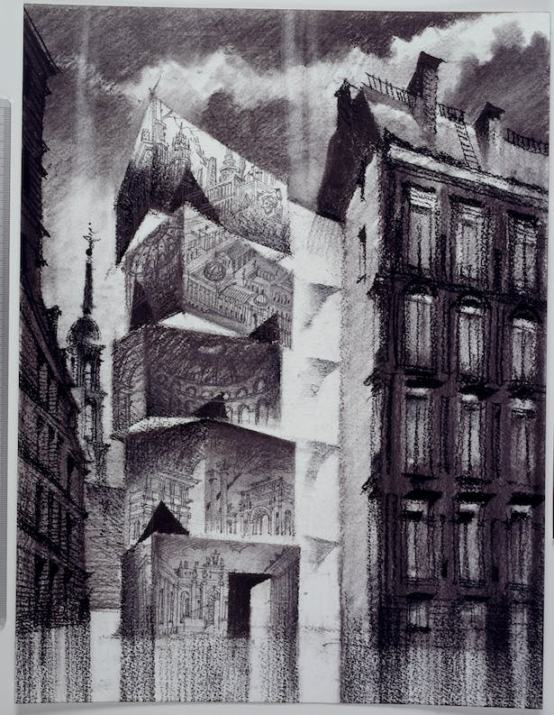 Drawing of the Museum of the Architectural Drawing by Sergei Tchoban