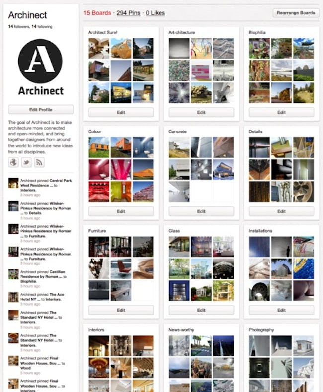 Archinect's Pinterest Boards