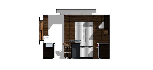 Proposed Kitchen East Elevation