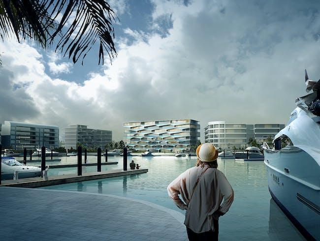 Honeycomb resort by BIG + HKHoneycomb by BIG + HKS + MDA. Image courtesy of BIG.S + MDA. Image courtesy of BIG.