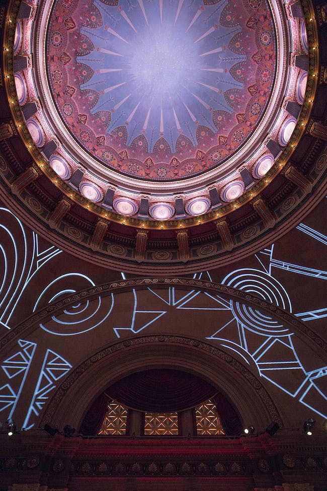 Projection by 2×4. The 2014 Beaux Arts Ball: Craft. Photo by Leandro Viana