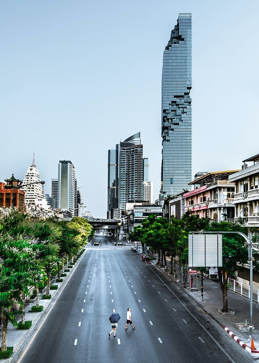MahaNakhon in Bangkok by Büro Ole Scheeren. Photo © Alexander Roan.