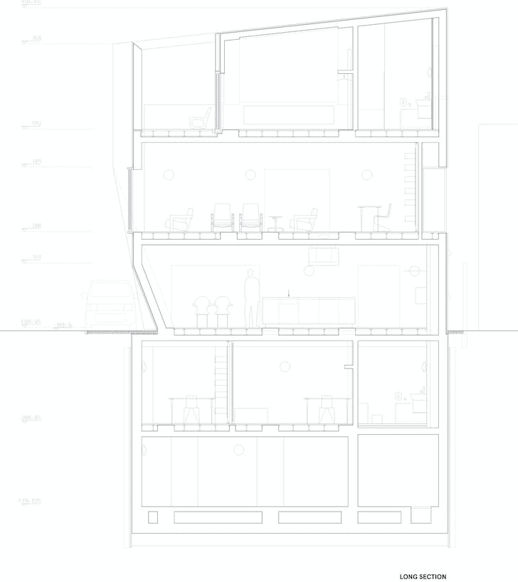 Section L1, courtesy of Wiel Arets Architects (WAA)