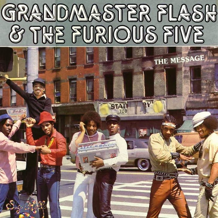 Album cover of 'The Message' by Grandmaster Flash and the Furious Five