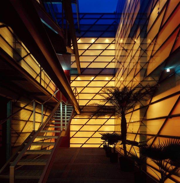 Interior at night