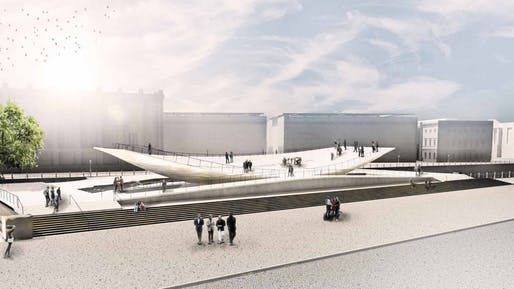 The 'Citizens in Motion' Monument to Freedom and Unity by Milla & Partner is slated for inauguration on November 9, 2019. Image via milla.de.