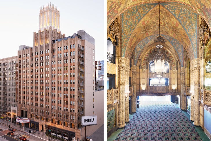 The United Artists building: from church to movie theater to hipster it-hotel (photo via jonnymetbird.com)
