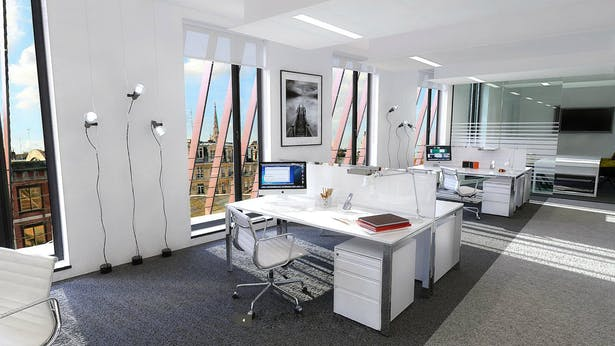 Interior view from the office space