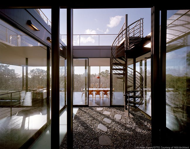 Watermill Houses in Watermill, NY by 1100 Architect (Photo: Peter Aaron/OTTO)
