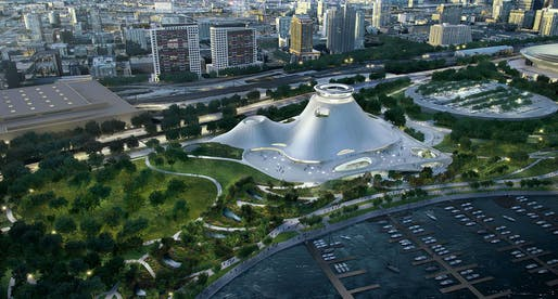 Maybe not on the waterfront: Lucas Museum of Narrative Art faces challenges in Chicago. Image via lucasmuseum.org.