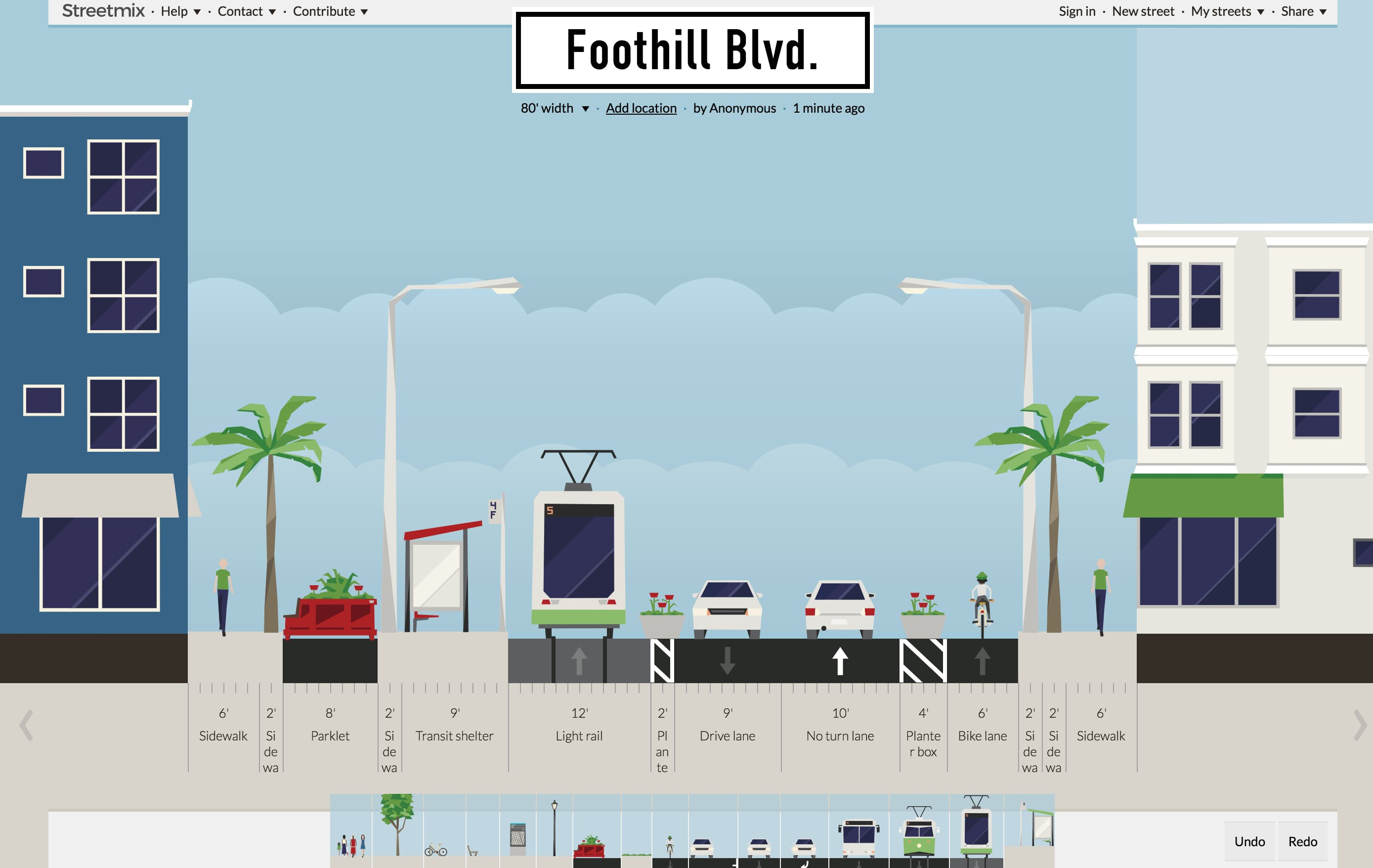 This online street designing tool, Streetmix, lets you play