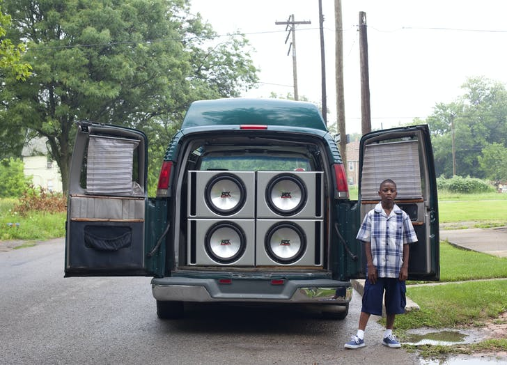 'Ray Shawn and his uncle's van,' (2011) by Corine Vermeulen, part of the 'My Detroit Postcard Project' for 'the Architectural Imagination.'