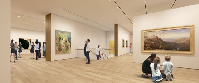 Rendering of TWBTA's proposed Hood Museum of Art expansion at Dartmouth College. (Rendering: MARCH; Image via twbta.com)