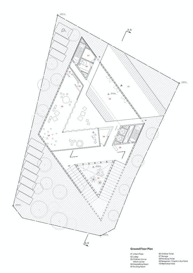 Floor plan - 00F (Image: studio SH)