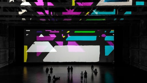 Olafur Eliasson's Reality projector in Marciano Art Foundation's Theater Gallery. Image: Joshua White/JWPictures.
