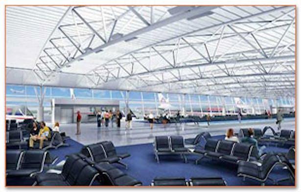 Concourse C Interior rendering