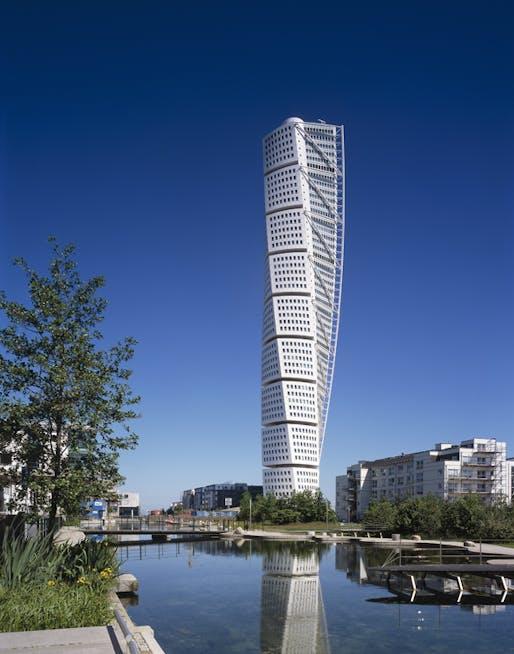 Santiago Calatrava's Turning Torso in Malmö, Sweden. Image courtesy of Santiago Calatrava Architects & Engineers.