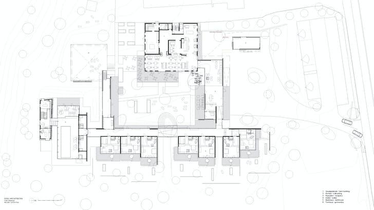 Ground floor plan (Image: GOGL ARCHITEKTEN)