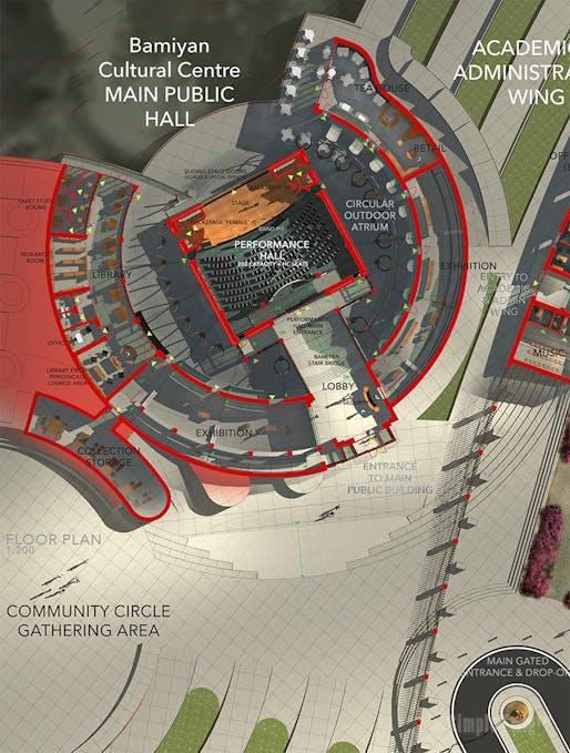 Bamiyan Cultural Centre - Floor plan for main building