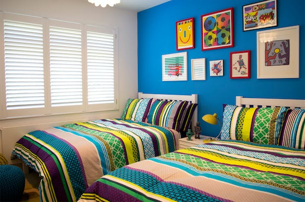 young boys colourful bedroom