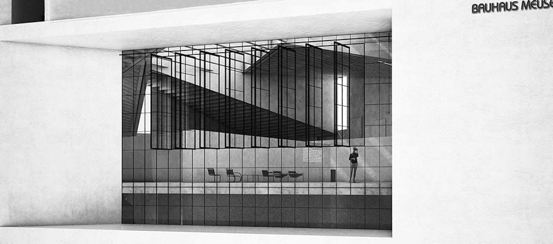 details of ja architecture's 4th-prize bauhaus museum dessau entry