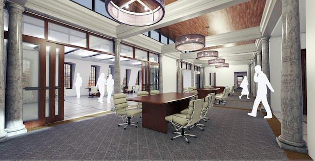 view of 3rd floor open office