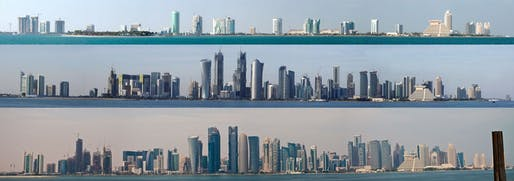 Doha, Qatar skyline. via reddit.com (submitted by RXX)