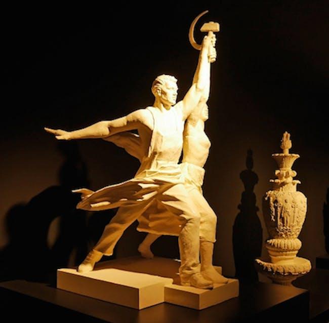 Russian Pavilion Venice Biennale 2016 Statues at VDNKh