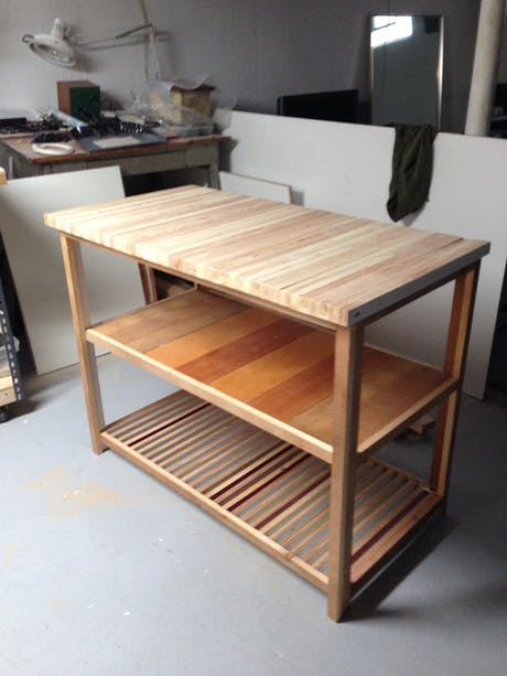 reclaimed lumber kitchen island