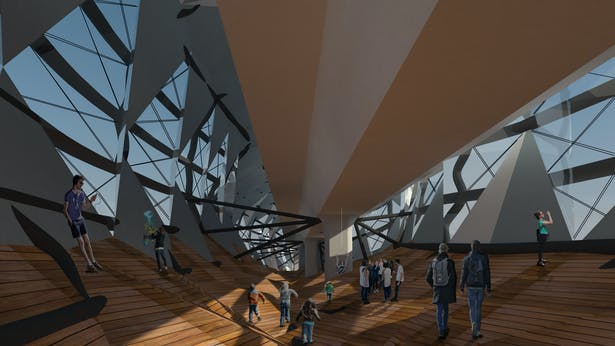 Interior below Metro Line