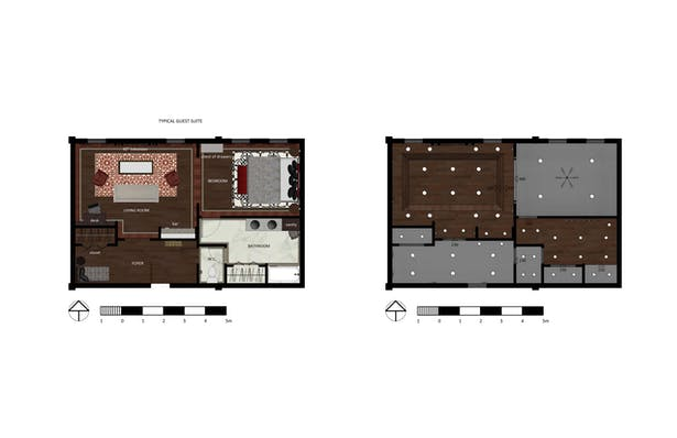 Guest Suite Plan and RCP