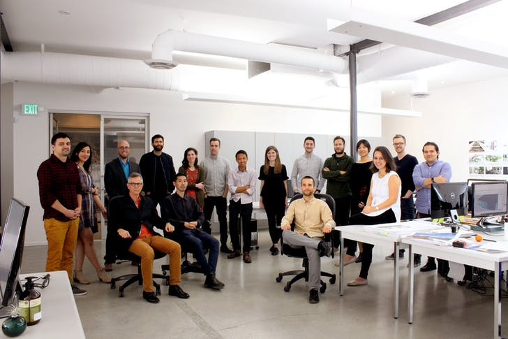The Neil M. Denari Architects team. Photo courtesy of NMDA.
