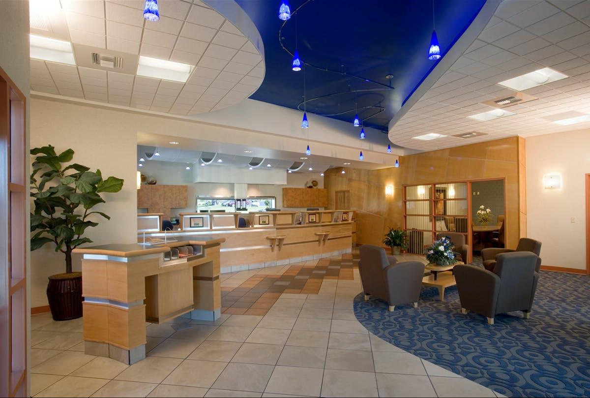 Bank branch interior design scott lutheran archinect for Ar interior decoration llc