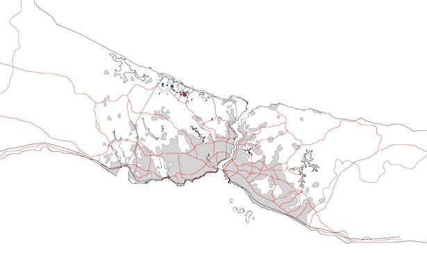 Istanbul's Regional Plan (grey = built area)