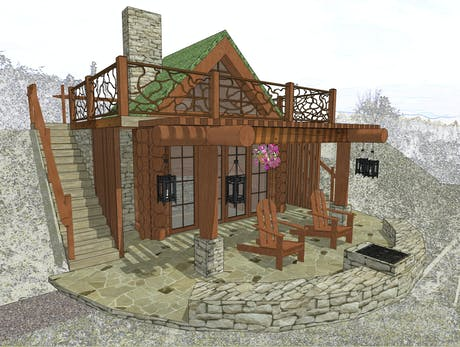 SMALL EARTH-SHELTERED SUNROOM