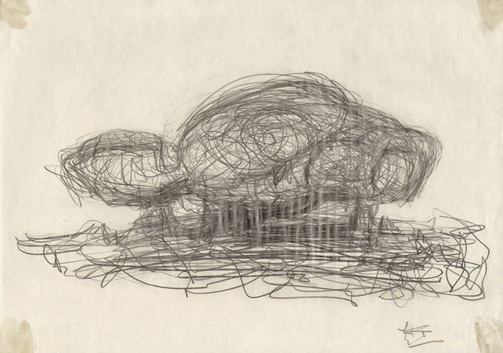 Frederick Kiesler, study for an 'Endless House', New York 1959