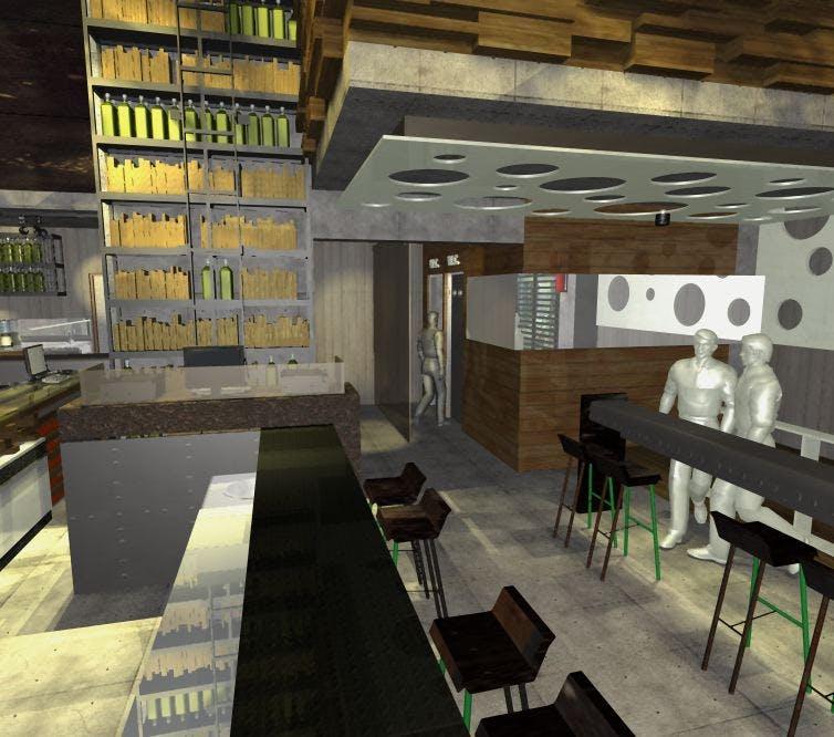 Desing Construction Icon Cafe Restaurant Nea Smirni