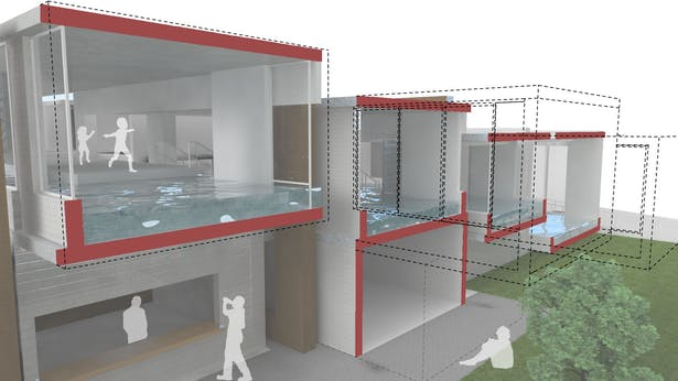 D.U.M.B.O. Pool House - Masonry Competition (Design chosen for submission 2008)