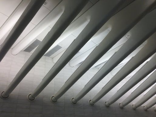 The interior of Calatrava's transit hub. Photo: Jessica Sheridan via flickr.com.
