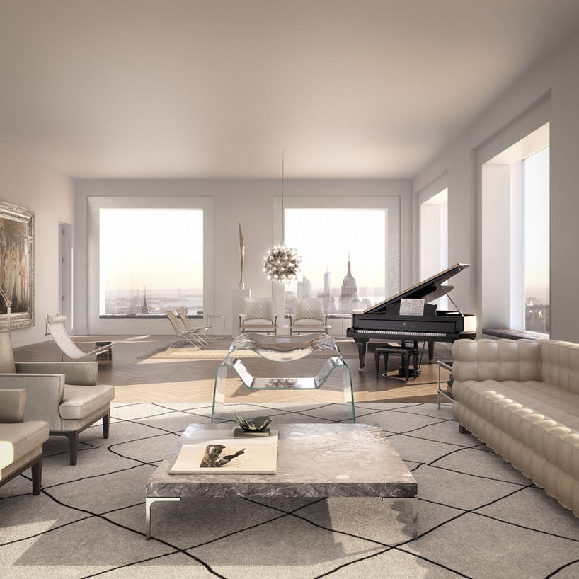 A rendering of the inside of one of the apartments at 432 Park  Image creditThe luxury apartment boom is about to come to a screeching halt  . Luxury Apartments Inside. Home Design Ideas