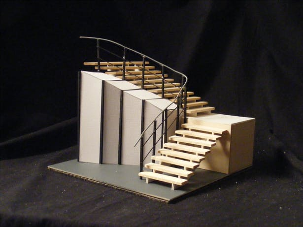 Stair case blow-up model