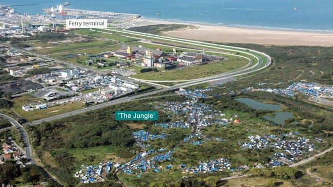 An overview of the Calais camp. Image: bbc.com.