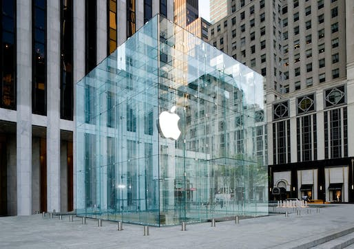 Apple 5th Avenue Flagship Store, New York City. Courtesy of Eckersley O'Callaghan.