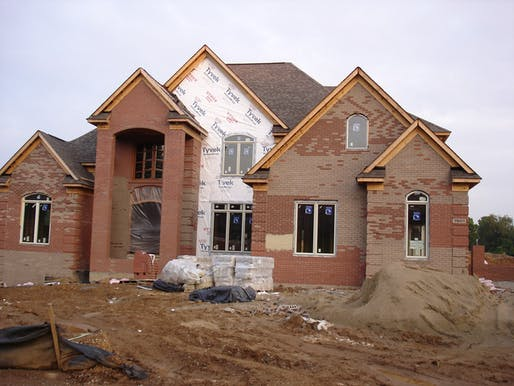 A McMansion under construction. Image via wikimedia.org