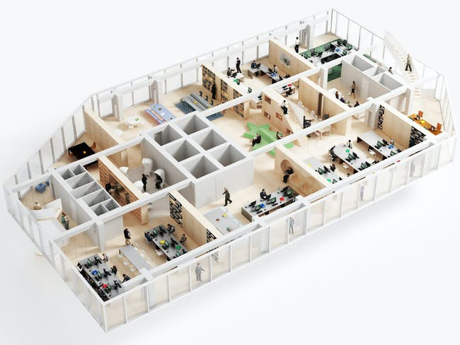 The Thick Walls™ system at work (Image courtesy of NL Architects)